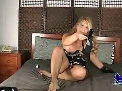 Fleshy Tranny Claudia Plays With The Strap-On 1