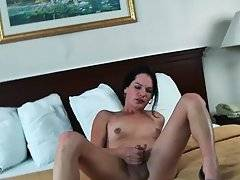 Brunette Tranny Gets Very Much Turned On 1