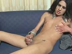 Slutty Tranny Jen Diaz Plays Hot Solo 1